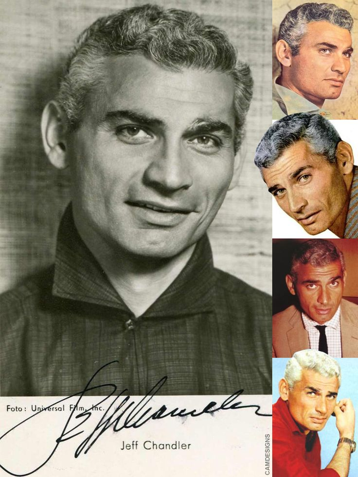 Jeff Chandler (Dec. 15, 1918 – June 17, 1961) was an American film actor and singer in the 1950s, best remembered for playing Cochise in Broken Arrow (1950), . When his friend Sammy Davis, Jr. lost an eye in an accident and was in danger of losing the other, Chandler offered to give Davis one of his own eyes. Chandler himself had nearly lost an eye and had been visibly scarred in an auto accident years earlier. Mr. Chandler was 43 yrs when he passed
