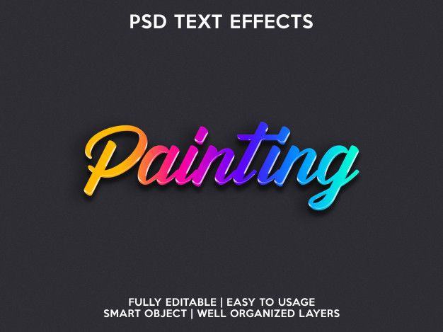 Photoshop text color