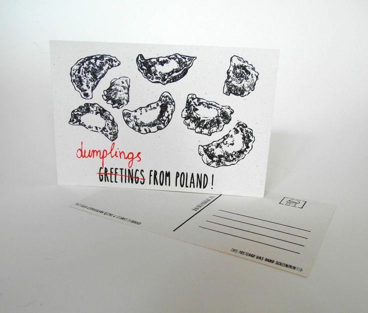 Hand screen printed postcard.