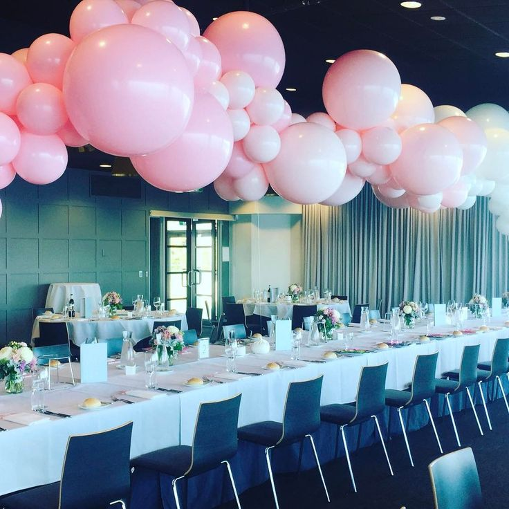 1178 best balloon decor images on pinterest balloon for Balloon cloud decoration