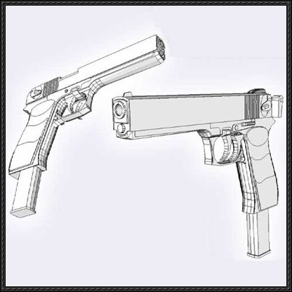Best Images About Paper Craft On Pinterest Pistols Jpg 416x416 Folding Papercraft Weapon Templates