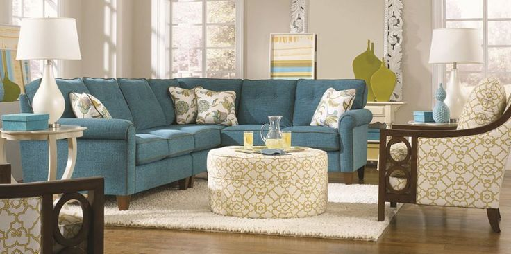 Love this La-Z-Boy room.  La-Z-Boy Furniture has a whole new line of amazing stationary furniture in addition to their more traditional La-Z-Boy recliners. #sponsored #homedecor