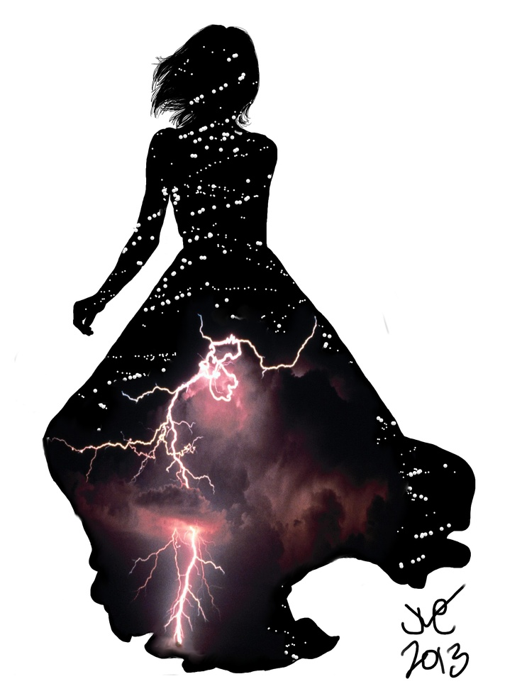 """""""Stormy"""", silhouette art by Joanna Marie."""