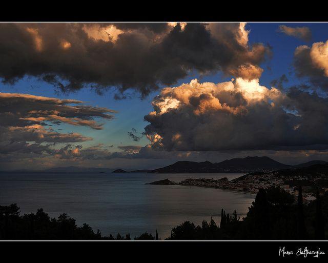 #autumn sunset in Kokkari, #Samos #Greece
