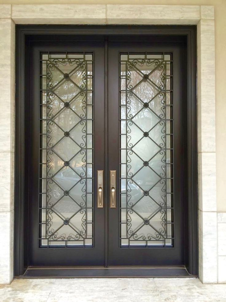 This Stunning Amberwood Custom Mahogany Double Entry Door Features Baldwin Hardware