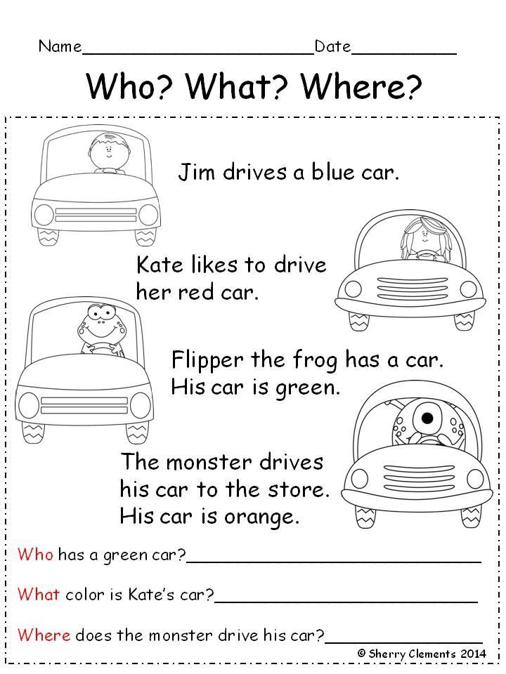84 best Kindergarten Reading Comprehension Passages images on – Free Printable Reading Comprehension Worksheets for 2nd Grade