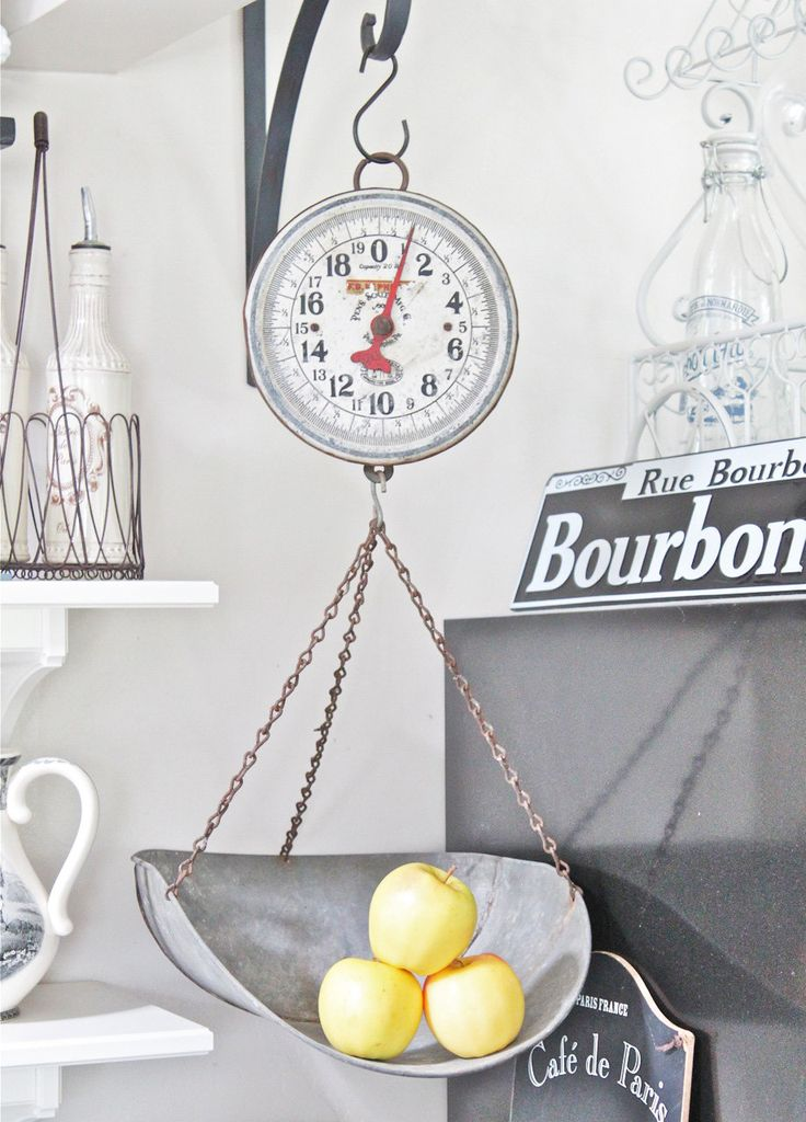 Vintage Hanging Kitchen Scale - Rustic and Industrial