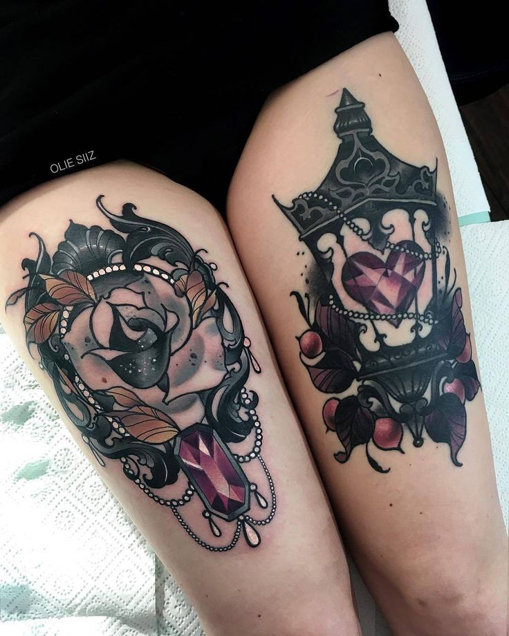 Flower And Lantern Gems by @olie_siiz in Warsaw Poland. #flower #lantern #gem #heart #oliesiiz #warsaw #poland #tattoo #tattoos #tattoosnob
