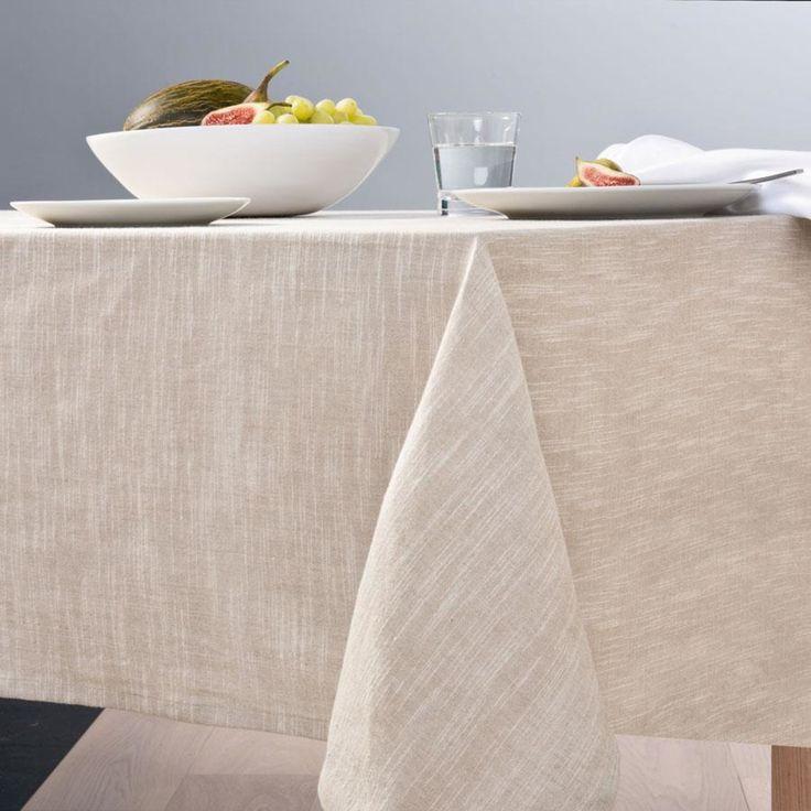 linen-look T/cloth Beige homemaker