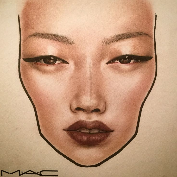 Made by @makeupbrock #facechart #art