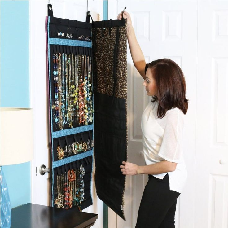 The Ultimate Jewelry Scroll - Hanging Storage Organizer - Holds Over 150 Pieces and Rolls Up For Travel - Patented Design - by Donna Walsh