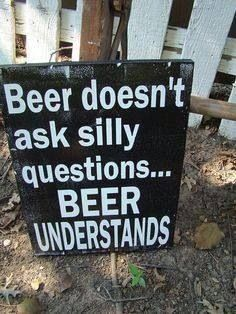 In a relationship with beer.