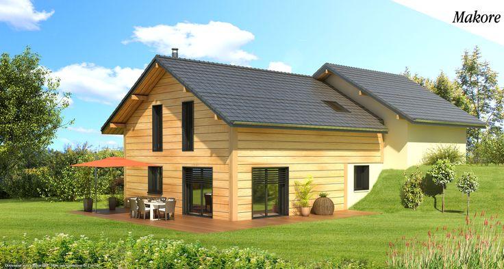 Maison à ossature bois avec suite parentale sur plan : Le modèle Makore du Groupe Artis