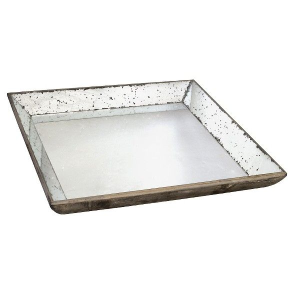 Vintage Finish Mirrored Glass Tray 20x20 A B Home Mirror Tray Glass Mirror