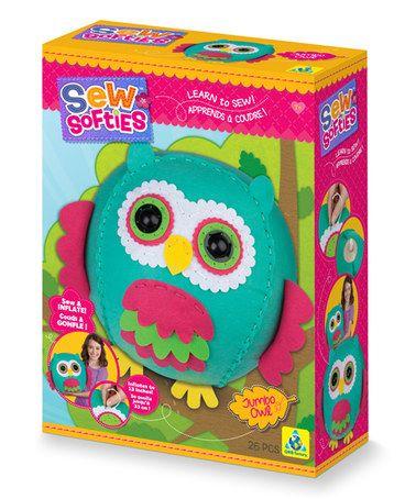Look what I found on #zulily! Sew Softies Jumbo Owl #zulilyfinds