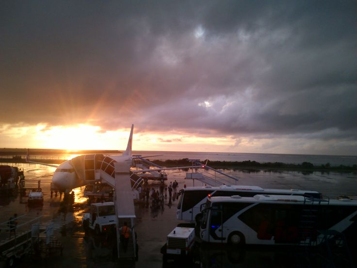 Sunset at Airport