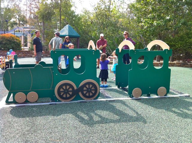Play train, Falconwing Park, The Woodlands, Texas