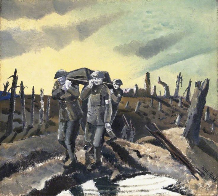 Wounded at Passchendaele by Paul Nash (1918)