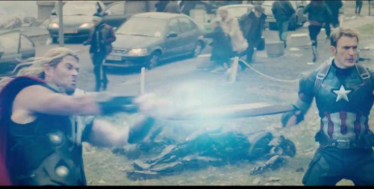 TV Spot Avengers 2: Thor Gunakan Perisai Captain America Untuk Kalahkan Drone Ultron!