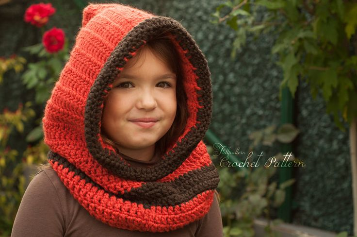 Crochet Hooded Cowl PATTERN, Hooded Cowl, Girls Cowl, Toddler Hat, Knitted Hood, Hooded Scarf, Kids Cowl. P017 by FullPattern on Etsy