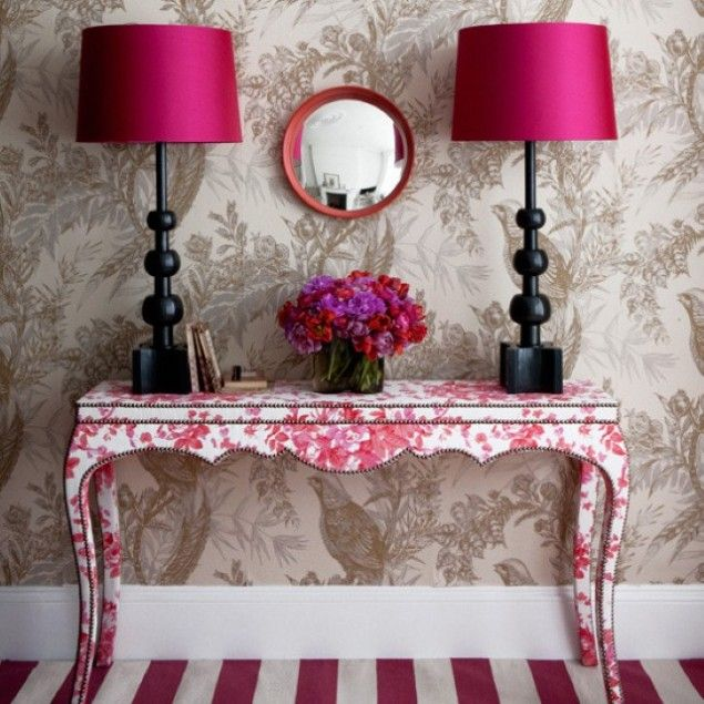 Toile table.  20 Cool Idea To Fresh Up Your Home For Spring
