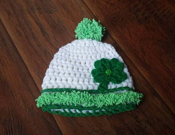 Check out this item in my Etsy shop https://www.etsy.com/ca/listing/176218538/baby-irish-hat-with-pompom-st-patty-girl