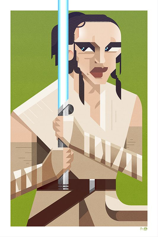 """Rey"" (inspired by #Rey from #Starwars ) by JB Roux - jibax.fr !"