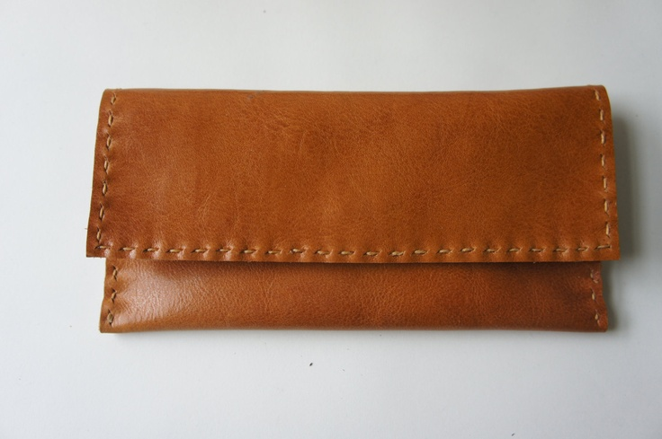Leather Wallet by stitchandtickle