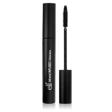 ELF Mineral Infused Mascara. Awesome drugstore mascara! I like it almost as much as Benefit Rollerlash. Good formula, good brush, no clumps.