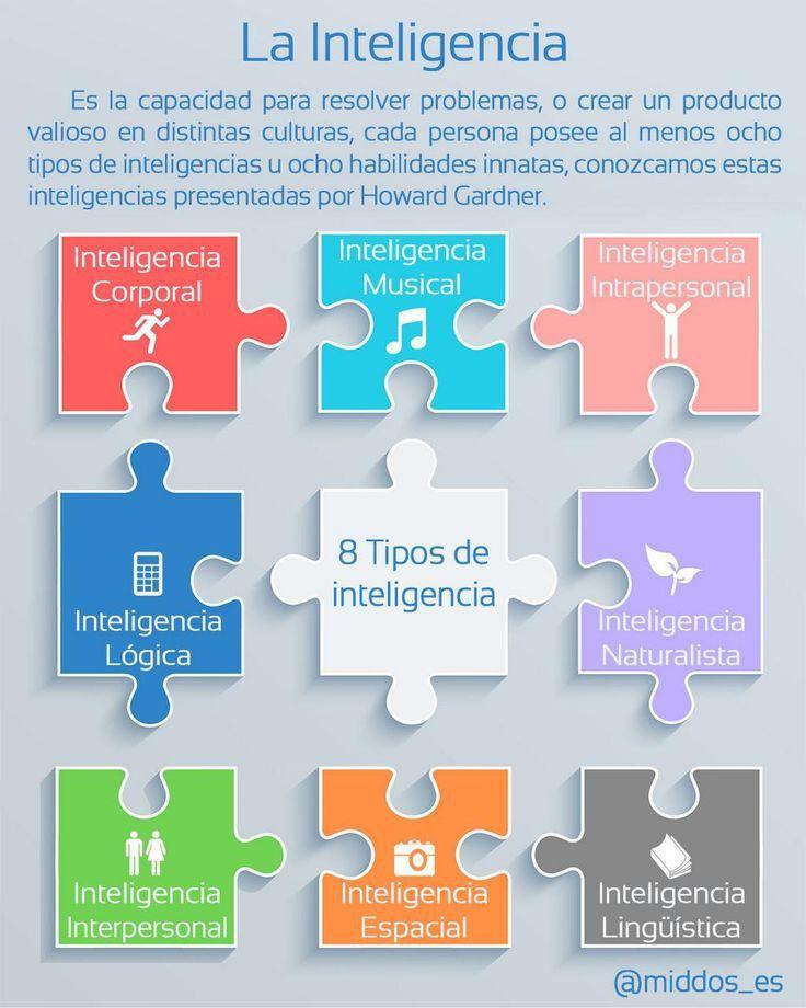 Los 8 tipos de inteligencia. Inteligencias Múltiples.