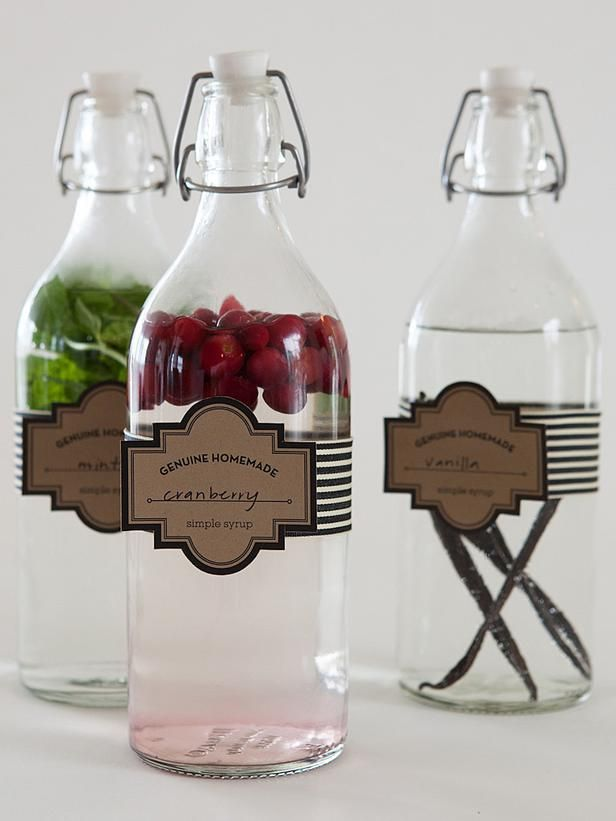 How to Make Vanilla, Mint or Cranberry Infused Simple Syrups >> http://www.diynetwork.com/decorating/how-to-make-infused-simple-syrups/pictures/index.html?soc=hpp
