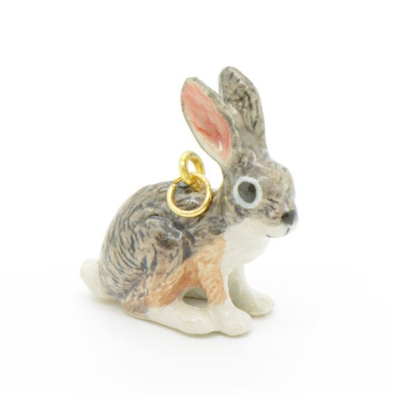Hey, I found this really awesome Etsy listing at https://www.etsy.com/listing/155986801/1-porcelain-grey-jackrabbit-pendant