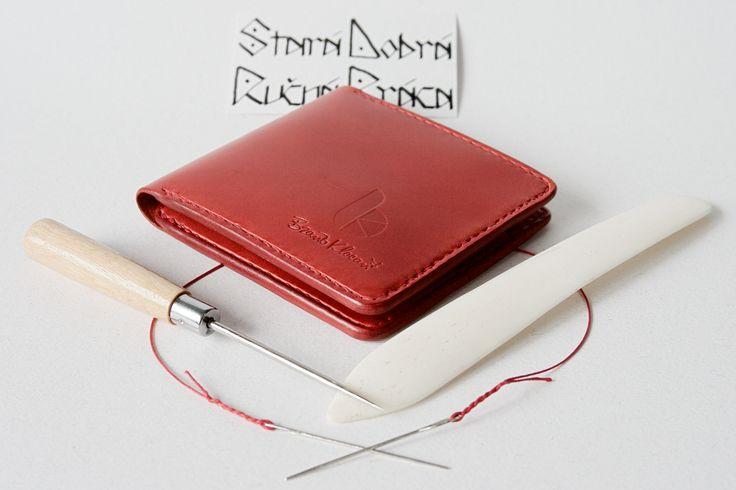 Handmade leather a man´s wallet by Brano Klocan LEATHERCRAFT  Ručne šitá kožená pánska peňaženka