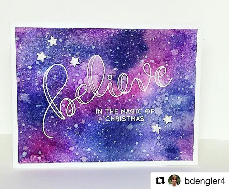 #Repost @bdengler4 with @repostapp ・・・ Can you say, shimmer? Painting with Distress Inks for day 8 of #thedailymarker30day. I adore this Believe set from @simonsaysstamp! #simonsaysstamp #SSSBelieve #cardmaking #papercrafting