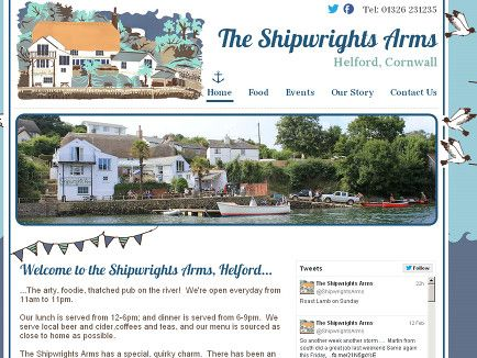 The Shipwrights Arms, Helford, Cornwall. Incredibly relaxing with the most amazing food.