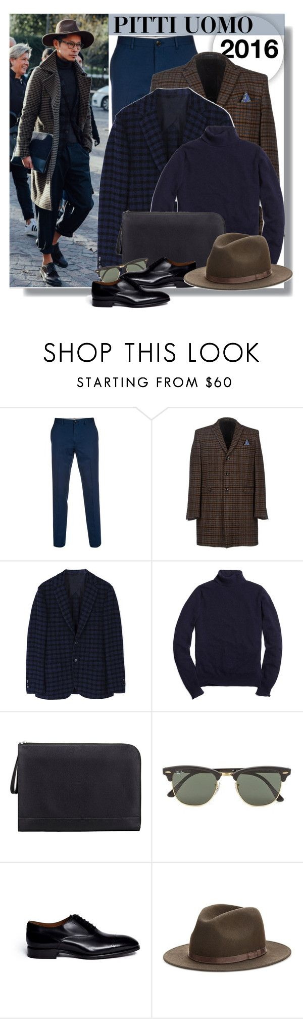 """PITTI UOMO 2016 - THANKS FOR THE MEN CATEGORY, FINALLY"" by anne-mclayne ❤ liked on Polyvore featuring Paul Smith, Manuel Ritz, MP di Massimo Piombo, Brooks Brothers, Valextra, Ray-Ban, Rolando Sturlini, Country Gentlemen, mens and men"