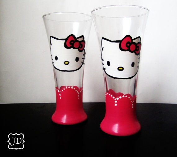 Hello Kitty pilsner Glass set <3
