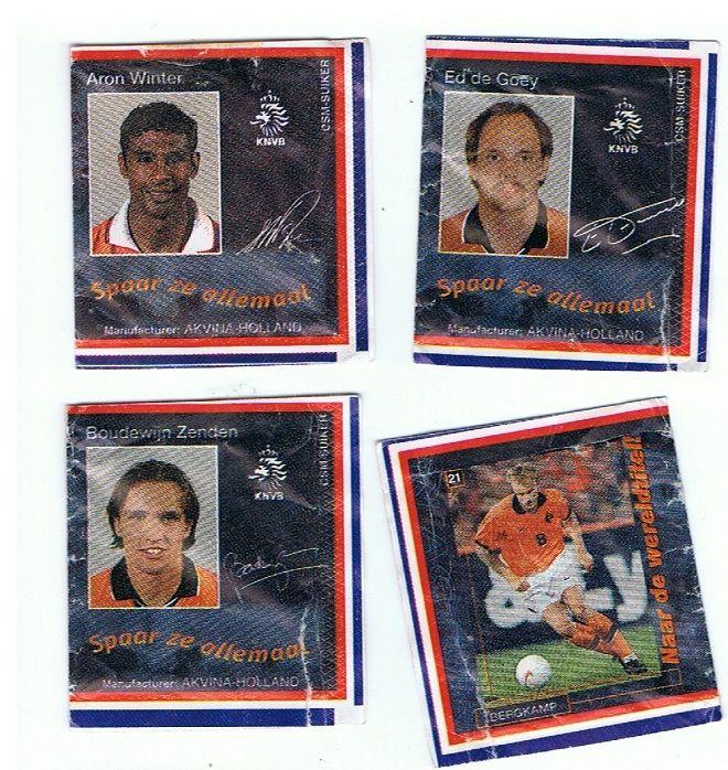 Suikerzakjes - Akvina Holland / CSM. 1998. Aron Winter, Ed de Goey, Boudewijn Zenden, Dennis Bergkamp.
