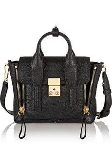 3.1 Phillip Lim The Pashli mini textured-leather trapeze bag | NET-A-PORTER