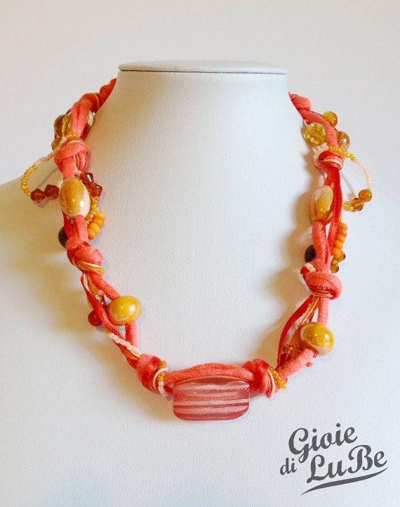 Girocollo multifilo arancione di GioiediLuBe su Etsy, €27.00