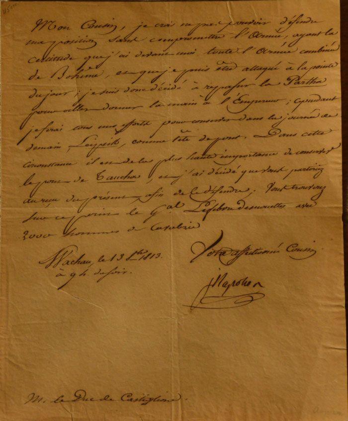MURAT Joachim – Lettre signée empire