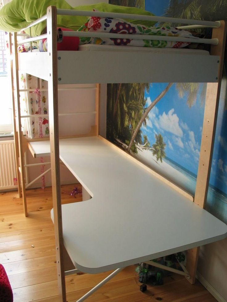 Diy Dorm Room Crafts Diy Desk For Ikea Lo Loft Bed Diy