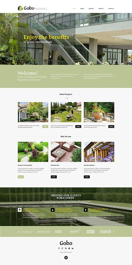 Template 49636 - Exterior Design Responsive Website Template