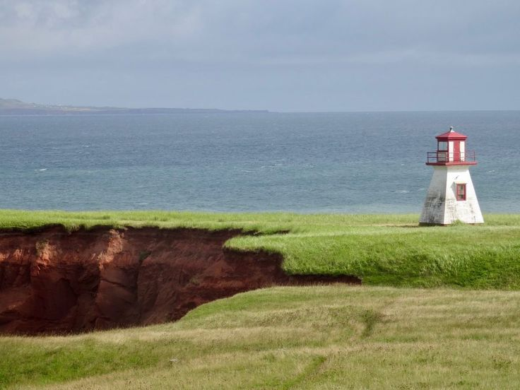 Small lighthouse in the Magdalen Islands