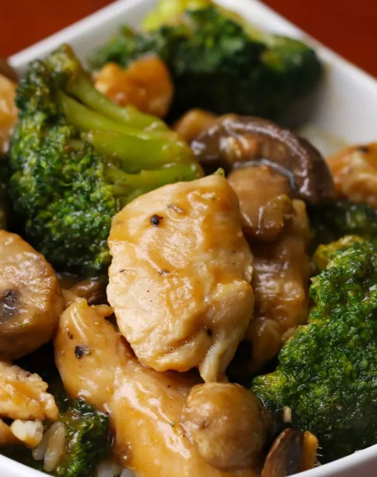 This Easy Chicken Broccoli Mushroom Stir Fry is a healthy meal that only uses a few ingredients. It is a great family meal that is simple and delicious.
