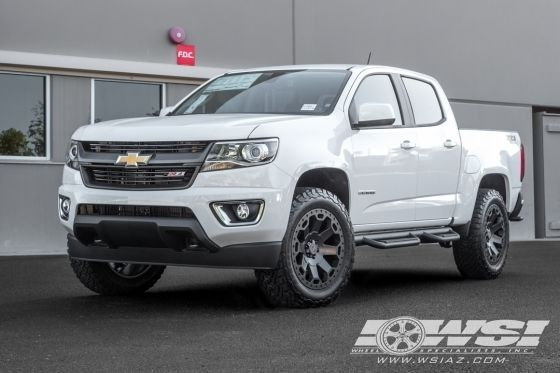 "2016 Chevrolet Colorado with 20"" Black Rhino Off Road Warlord in Matte Gunmetal wheels"