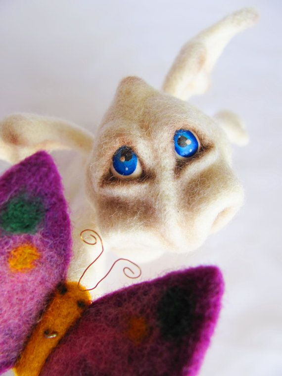 Мягкая скульптура Войлок куклы войлочные животных Коллекционная по VladaHom