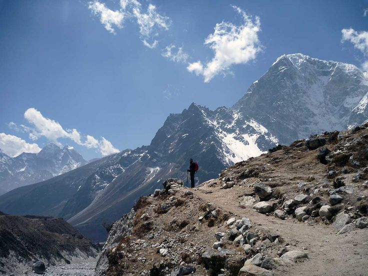 The scale of the Everest region is stunning.   #nepal #himalayas #hikingnepal