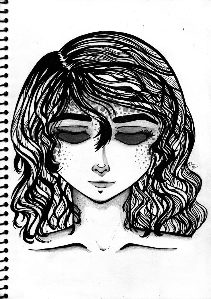 Spot. A traditional work. Ink of paper.