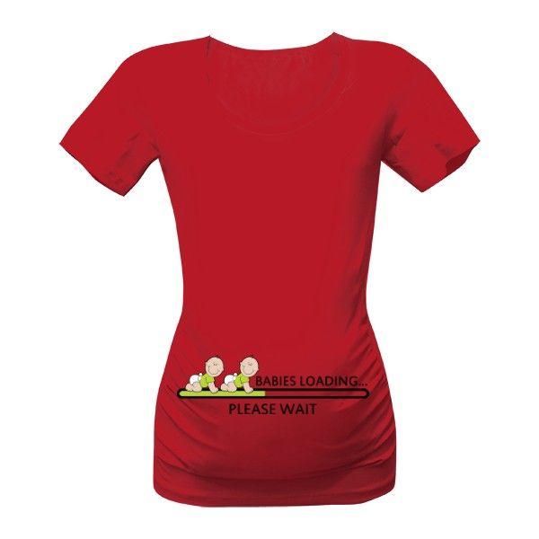 Čekáte dvojčátka? Pak tohle originální tričko s vtipným potiskem je přímo pro vás :-)